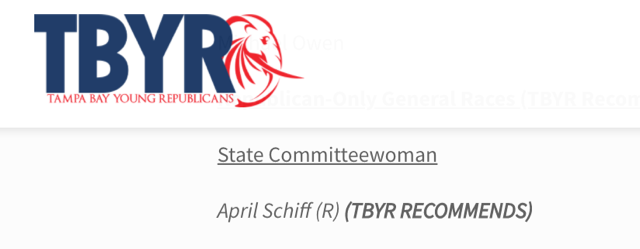 Tampa Bay Young Republicans Endorse April Schiff for Hillsborough County Republican Party State Committeewoman